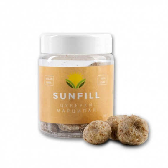 Цукерки марципан, 160 г Sunfill