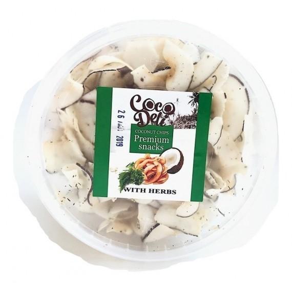 Кокосові чіпси з цибулею, 30г Coco Deli