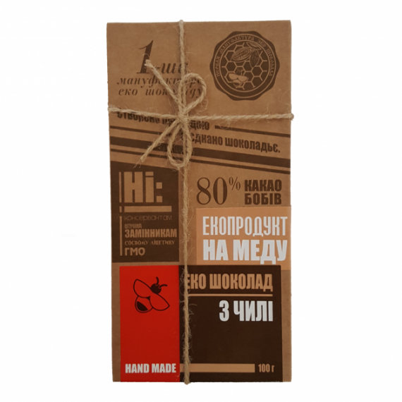 Еко шоколад з чилі, 100 г Перша Мануфактура Еко Шоколаду