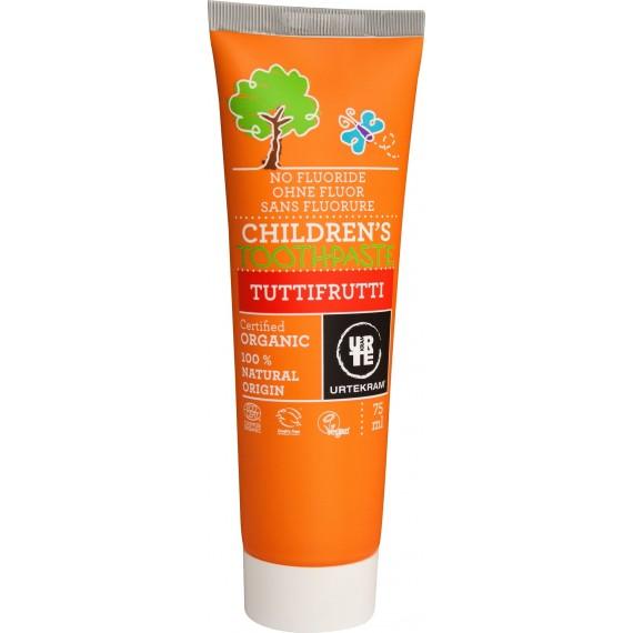 Органічна дитяча зубна паста  Тутті-Фрутті 75мл, URTEKRAM
