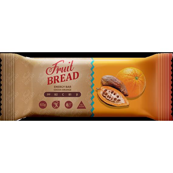 "Батончик ""Какао - апельсин"", 60 г Fruit Bread"