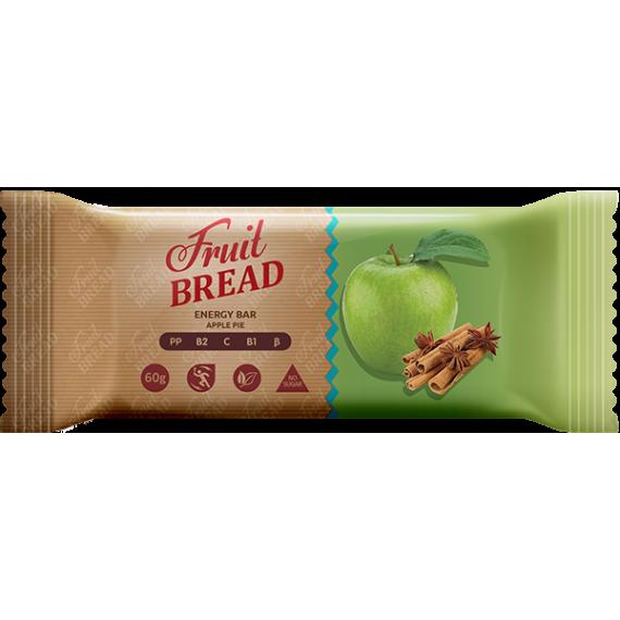 """Батончик """"Яблучний пирiг"""", 60 г Fruit Bread"""