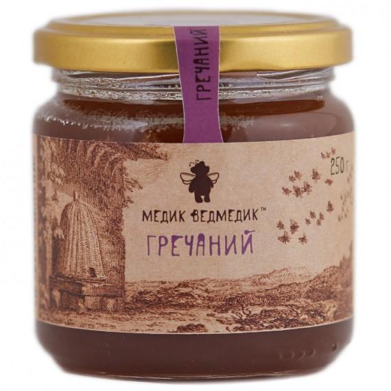 Мед гречаний, 1100 г Медик Ведмедик