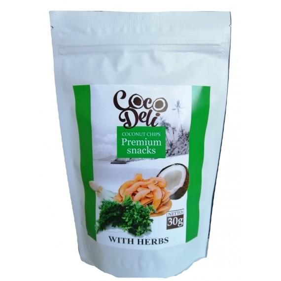 Кокосові чіпси з цибулею, 100г Coco Deli