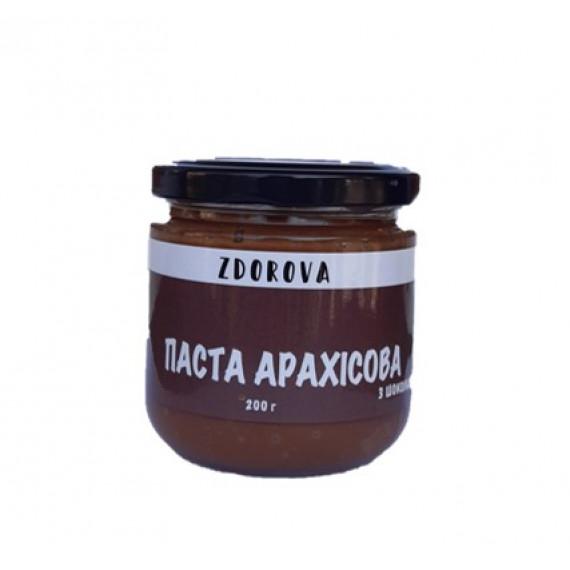 Арахісова паста з шоколадом, 200г  ZDOROVA