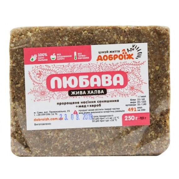 Жива халва на меду Любава, 250г Доброїж