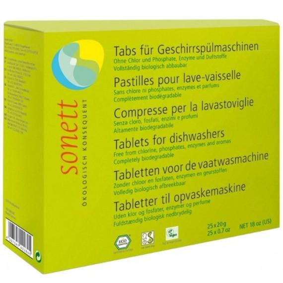 Органічні таблетки для посудомийних машин, 500г Sonett