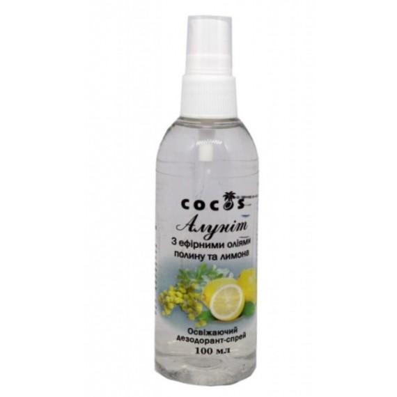 Алуніт спрей з ефірними оліями полині та лимону, 100мл Cocos