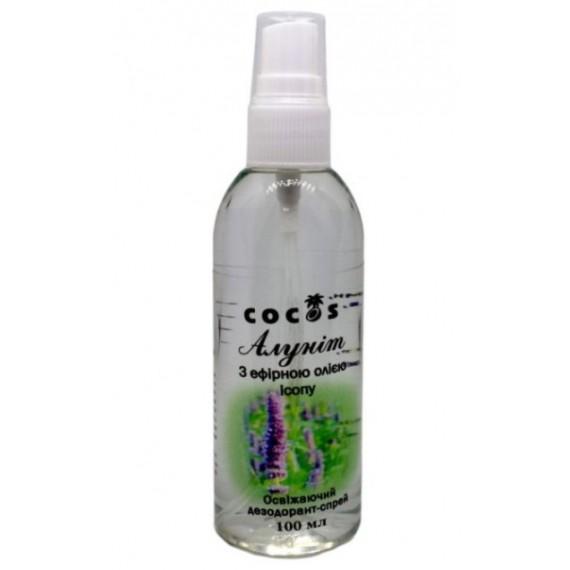 Алуніт спрей з ефірною олією ісопу, 100мл Cocos