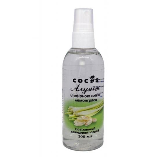 Алуніт спрей з ефірною олією лемонграса, 100мл Cocos