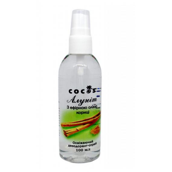 Алуніт спрей з ефірною олією кориці, 100мл Cocos