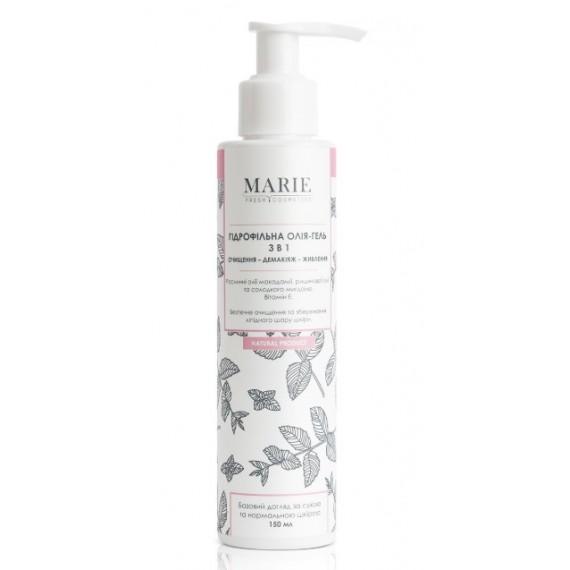 Гідрофільна олія-гель 3 в 1 для сухої та нормальної шкіри, 150мл Marie Fresh Cosmetics