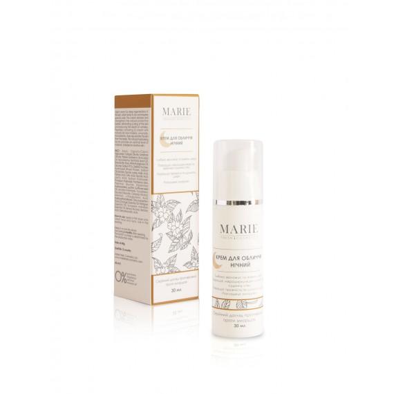 Нічний крем для обличчя проти зморшок 30мл, Marie Fresh Cosmetics