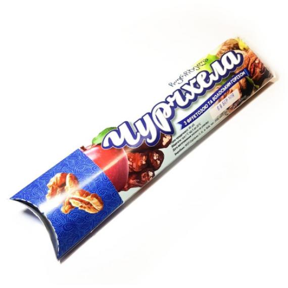 Чурчхела на фруктозі «Волоський горіх», 70г