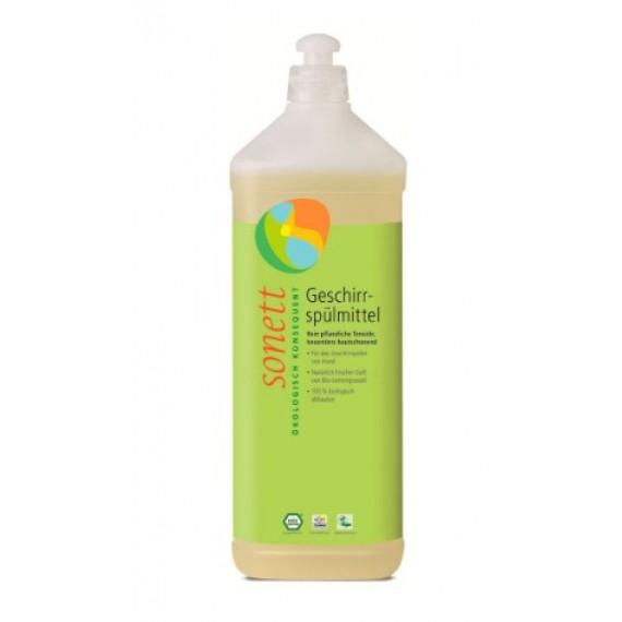 Органічна рідина-концентрат для миття посуду з ефірною олією лимонника, 1л Sonett