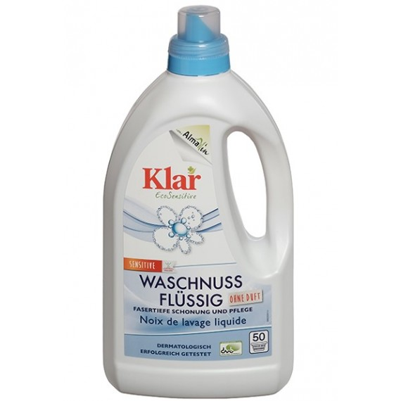 """Органічний рідкий засіб для прання """"Мильний горіх"""" без запаху, 1,5л Klar"""
