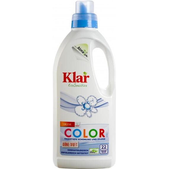Органічна рідина для прання COLOR без запаху, 1л Klar