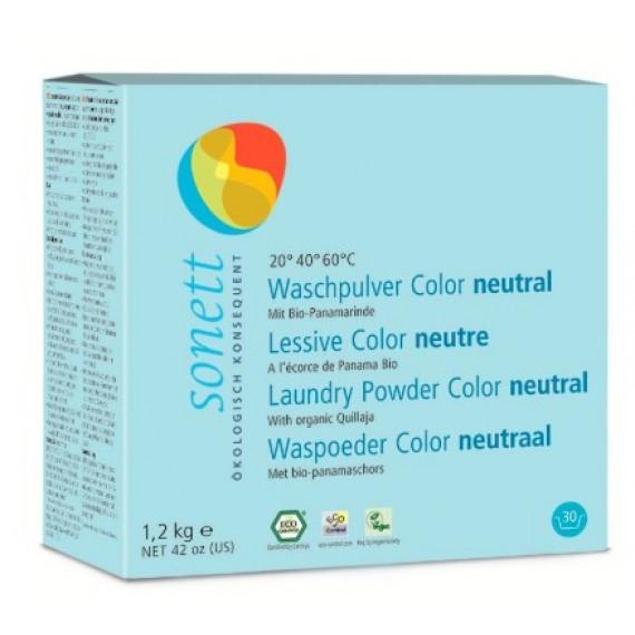 Органічний порошок для прання кольорових речей (концентрат) Sensitive, 1,2кг Sonett