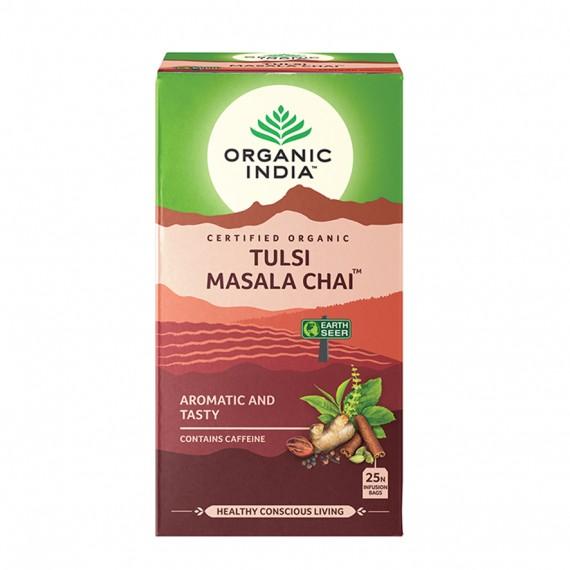 Органічний трав'яний чай Тулсі масала, 25пакетиків Organic India