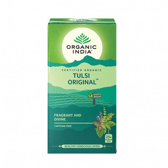 Органічний трав'яний чай Тулсі оригінальний, 25пакетиків Organic India