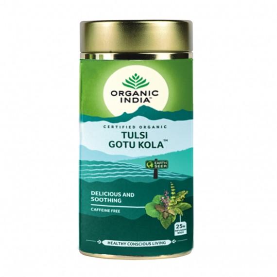 Органічний трав'яний чай Тулсі Готу Кола, 100г Organic India