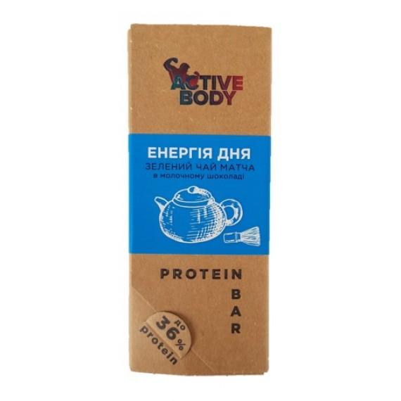 Протеїновий батончик Матча в молочному шоколаді, 60г Active Body