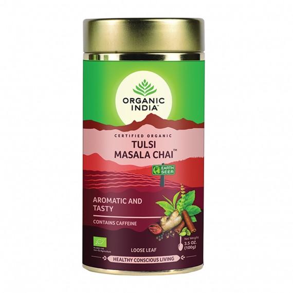 Органічний трав'яний чай Тулсі масала, 100г Organic India