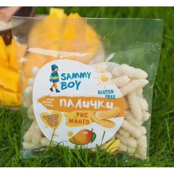 Палички Рис-Манго, 40г Sammy Boy