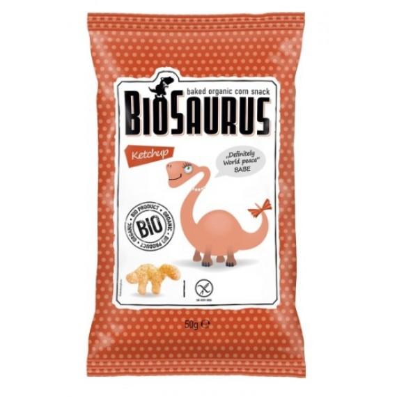 Кукурудзяні снеки з кетчупом органічні Biosaurus, 50г McLLOYD'S