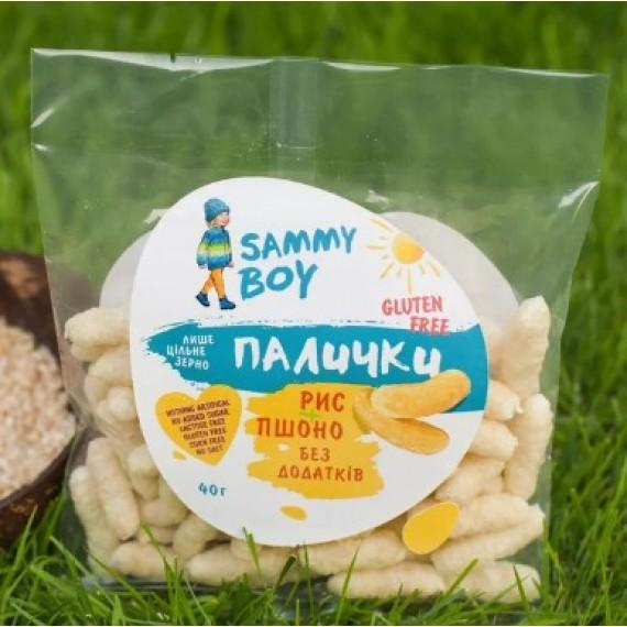 Палички Рис-Пшоно, 40г Sammy Boy