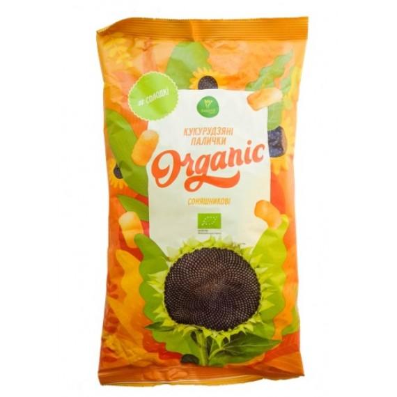 Палички кукурудзяні органічні Соняшникові, 50г Екород
