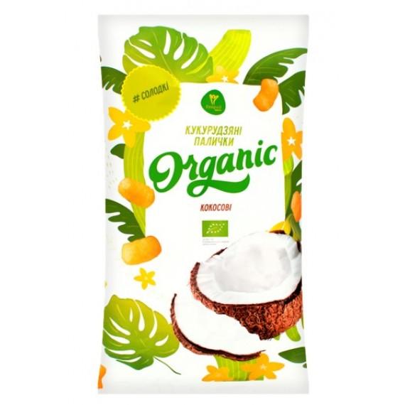 Палички кукурудзяні органічні Кокосові, 50г Екород
