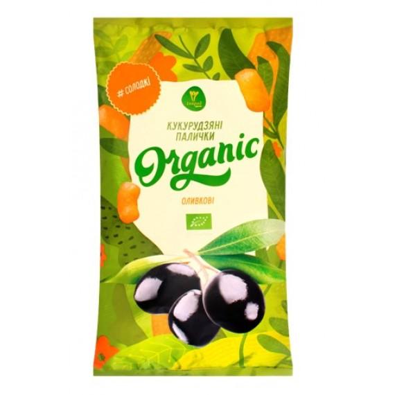 Палички кукурудзяні органічні Оливкові, 50г Екород