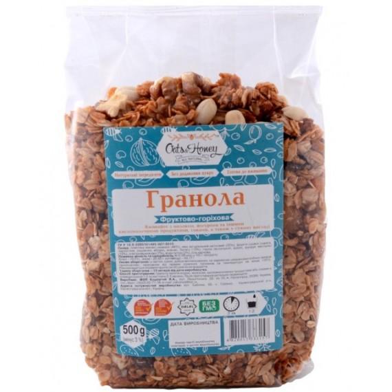 Гранола фруктово - горiхова, 500г Oats & Honey