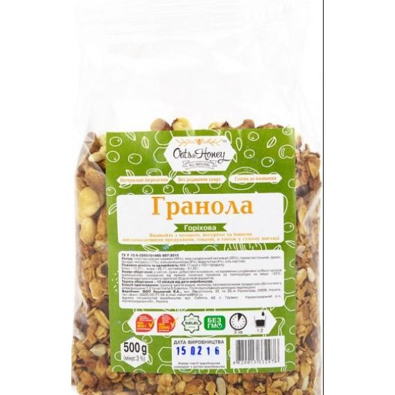 Гранола горiхова, 500г Oats & Honey