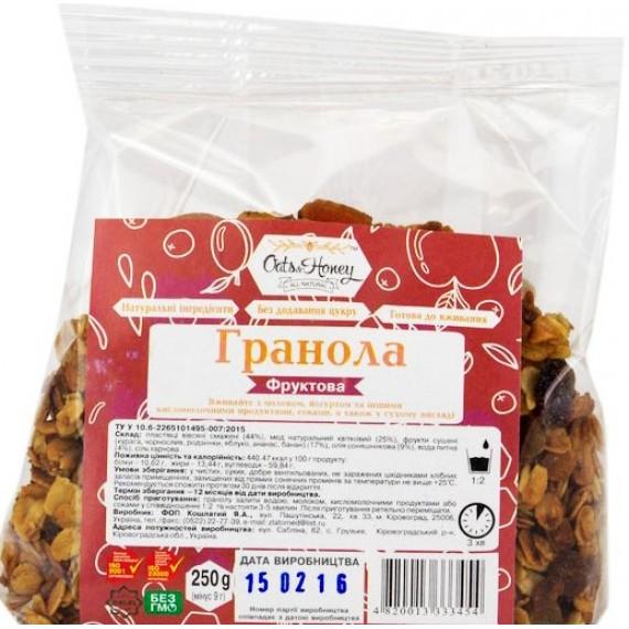 Гранола фруктова, 250г Oats & Honey