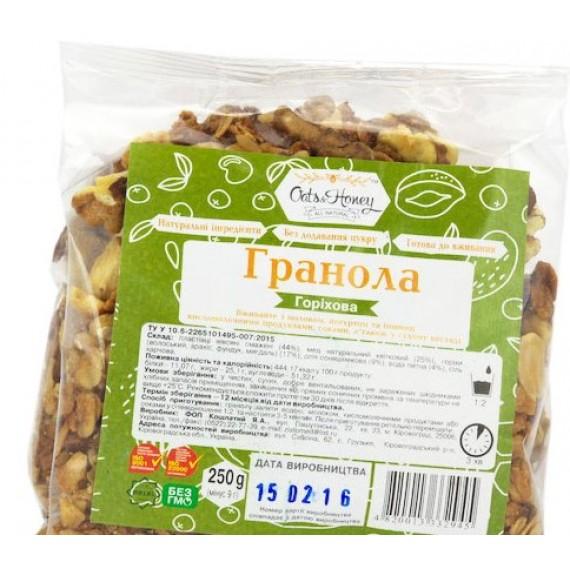 Гранола горiхова, 250г Oats & Honey