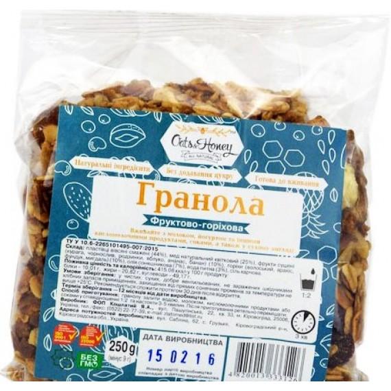 Гранола фруктово - горiхова, 250г Oats & Honey