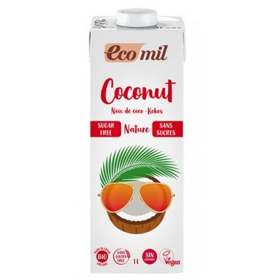 Органічний кокосовий напій без цукру, 1л Ecomil
