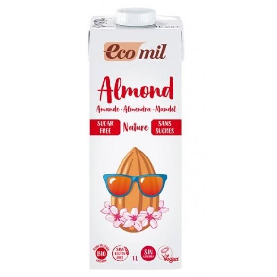 Органічний мигдальний напій без цукру, 1л Ecomil