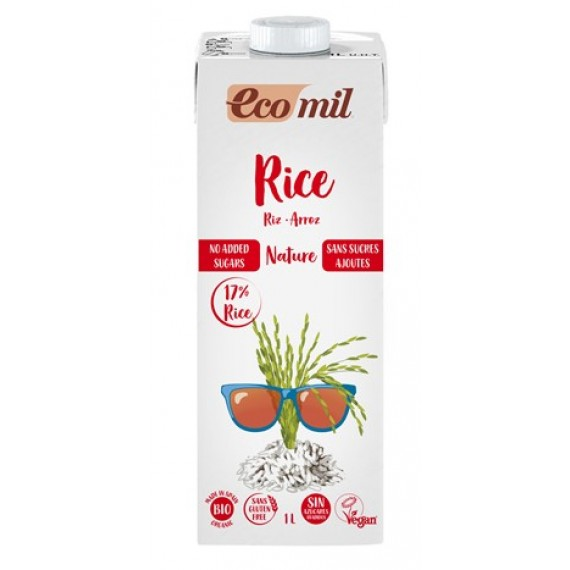 Органічний рисовий напій без цукру, 1л Ecomil