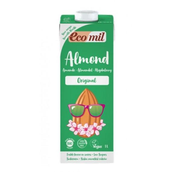 Органічний мигдальний напій з сиропом агави, 1л Ecomil