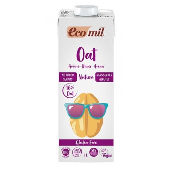 Органічний вівсяний напій без цукру, 1л Ecomil