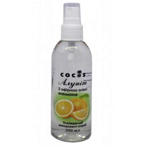 Алуніт спрей з ефірною олією апельсину, 100мл Cocos