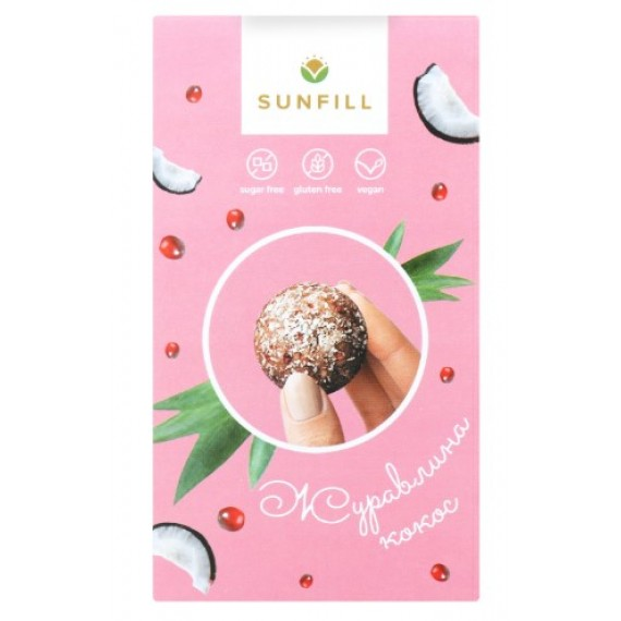 Цукерки журавлина-кокос, 150г Sunfill