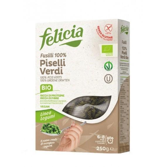 Макарони з зеленого горошку, 250г Felicia