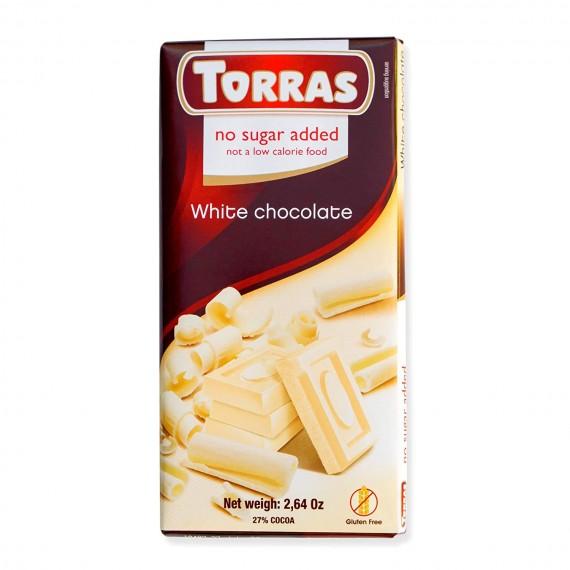 Білий шоколад без цукру (без глютену), 75г Torras