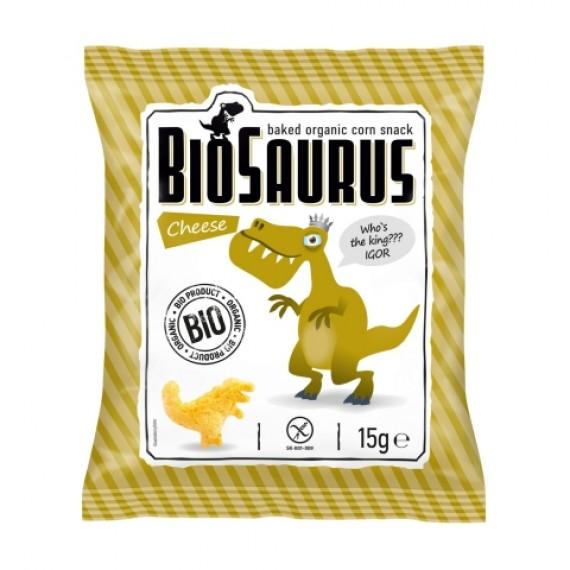 Кукурудзяні снеки з сиром органічні Biosaurus, 15г McLLOYD'S