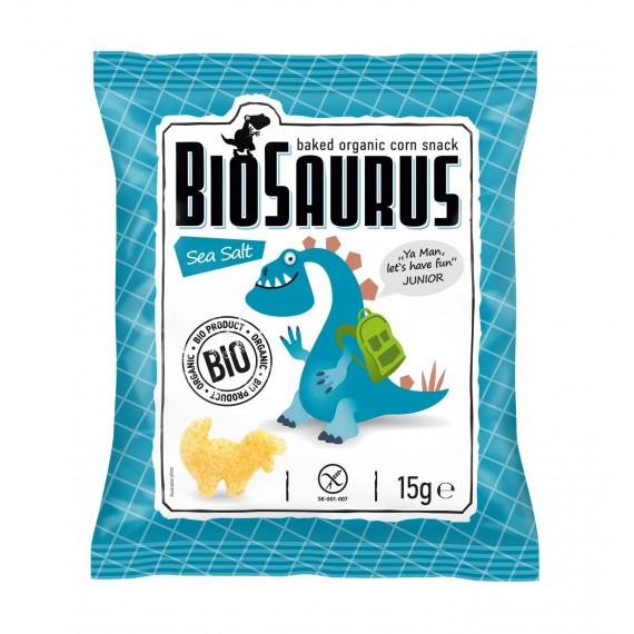 Кукурудзяні снеки з морською сіллю органічні Biosaurus, 15г McLLOYD'S