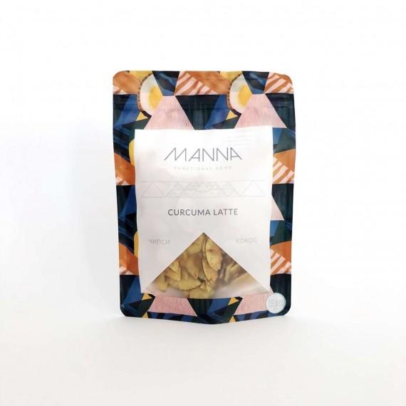 Чіпси кокосові Curcuma Latte, 50г Manna